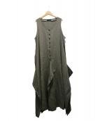 MOYURU(モユル)の古着「リネンワンピース」|ベージュ