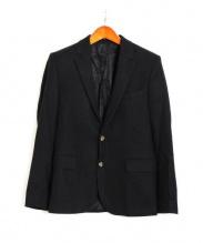 AMI Alexandre Mattiussi(アミ・アレクサンドル・マテュッシ)の古着「MOON社ツィードジャケット」|ブラック