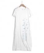HATRA(ハトラ)の古着「サイドジップロングカットワンピース」|ホワイト