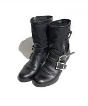 LIMIfeu(リミフゥ)の古着「サイドジップブーツ」 ブラック