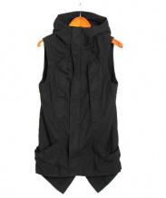 ripvanwinkle(リップヴァンウィンクル)の古着「ノースリーブジャケット」|ブラック