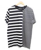 T by ALEXANDER WANG(ティーバイアレキサンダーワン)の古着「切替ボーダーTシャツ」