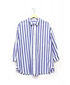 STATESIDE(ステートサイド)の古着「ストライプシャツ」|ブルー