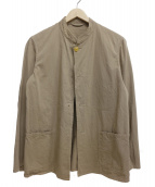 COMOLI(コモリ)の古着「インレイツイルスタンドカラージャケット」 ベージュ