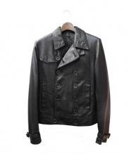 Dior Homme(ディオールオム)の古着「レザーPコート」|ブラック