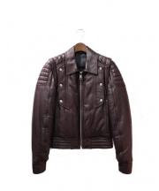 Dior Homme(ディオールオム)の古着「レザージャケット」 ブラウン