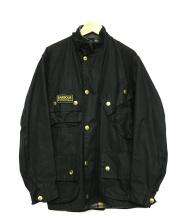 Barbour(バブアー)の古着「オイルドインターナショナルジャケット」|ブラック