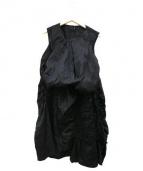 ZUCCA(ズッカ)の古着「テープシャーリングワンピース」|ブラック