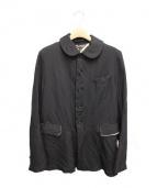 BLACK COMME des GARCONS(ブラックコムデギャルソン)の古着「染色加工丸襟コート」 ブラック