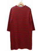 marimekko(マリメッコ)の古着「ボーダーワンピース」|レッド