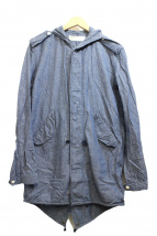NAISSANCE(ネサーンス)の古着「リネンモッズコート」|ブルー