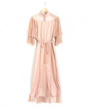 Ameri VINTAGE](アメリビンテージ)の古着「チュールオールインワン」 ピンク