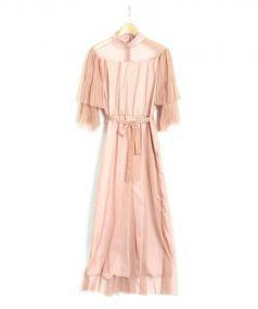 Ameri VINTAGE](アメリビンテージ)の古着「チュールオールインワン」|ピンク