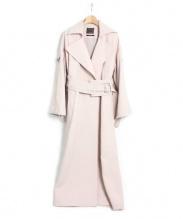 AULA(アウラ)の古着「ロングコート」|ピンク