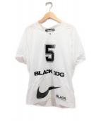 BLACK COMME des GARCONS×NIKE(ブラックコムデギャルソン×ナイキ)の古着「フットボールTシャツ」 ホワイト