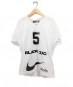 BLACK COMME des GARCONS×NIKE(ブラックコムデギャルソン×ナイキ)の古着「フットボールTシャツ」|ホワイト