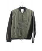 FACTOTUM(ファクトタム)の古着「袖レザーMA-1ジャケット」 オリーブ