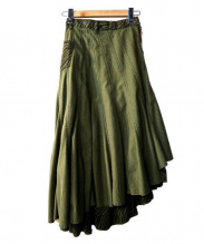 Hysteric Glamour(ヒステリックグラマー)の古着「サイドジップ巻スカート」|オリーブ