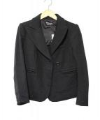 SONIA RYKIEL(ソニアリキエル)の古着「ダブル地ショートジャケット」|ブラック