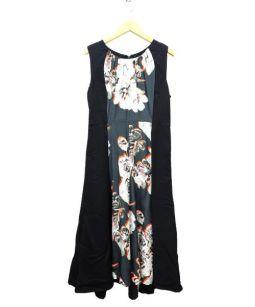 PAOLA FRANI(パオラフラーニ)の古着「ノースリーブワンピース」|ブラック