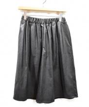 MM6(エムエムシックス)の古着「フェイクレザーハーフパンツ」|ブラック