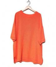 Edwina Horl(エドウィナホール)の古着「半袖ビッグニット」|オレンジ