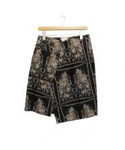 DRIES VAN NOTEN(ドリスヴァンノッテン)の古着「ジャガードスカート」|ブラック