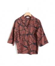 DRIES VAN NOTEN(ドリス ヴァン ノッテン)の古着「プリントシャツ」 ブラウン