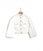 DRIES VAN NOTEN(ドリス ヴァン ノッテン)の古着「ホワイトデニムジャケット」 ホワイト