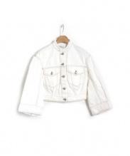 DRIES VAN NOTEN(ドリス ヴァン ノッテン)の古着「ホワイトデニムジャケット」|ホワイト