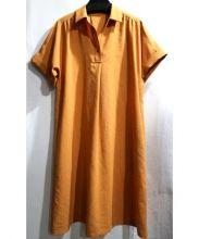 Leilian(レリアン)の古着「シャツワンピース」|オレンジ