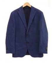 UNITED ARROWS TOKYO(ユナイテッドアローズ)の古着「ウールリネン2Bジャケット」|インディゴ