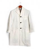 EEL(イール)の古着「ステンカラーコート」|オフホワイト