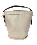UN-SYMMETRY(アンシンメトリー)の古着「バケツ型バッグ」|アイボリー