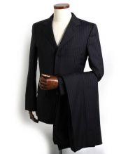 GUCCI(グッチ)の古着「3Bストライプスーツ」 ダークグレー