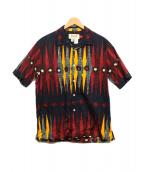 MONITALY(モニタリー)の古着「総柄オープンカラーシャツ」|ネイビー