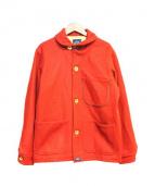BLUE DE PANAMA(ブルードゥパナム)の古着「ショールカラーコート」|レッド