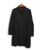 UNITED TOKYO(ユナイテッドトーキョー)の古着「リネンスタンドカラーコート」|ブラック