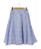 Thierry Colson(ティエリー コルソン)の古着「フレアスカート」|ホワイト×ブルー
