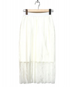 JOHN LAWRENCE SULLIVAN(ジョンローレンスサリバン)の古着「メッシュスカート」|ホワイト
