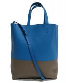 CELINE(セリーヌ)の古着「2WAYバッグ」 ブルー×グレージュ