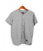 CHROME(クローム)の古着「スウェット半袖カーディガン」|ライトグレー