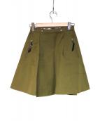TOGA(トーガ)の古着「リバーシブルスカート」 オリーブ