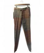 ISAMU KATAYAMA BACKLASH(イサムカタヤマ バックラッシュ)の古着「ツイードパンツ」|ブラウン