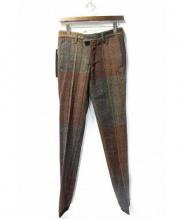 ISAMU KATAYAMA BACKLASH(イサムカタヤマ バックラッシュ)の古着「ツイードパンツ」 ブラウン