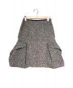sacai(サカイ)の古着「ツイードスカート」|ブラック