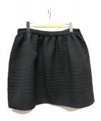 PRADA(プラダ)の古着「千鳥ジャガードスカート」|ブラック