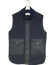 Black&Blue(ブラック&ブルー)の古着「キルティングベスト」|ネイビー