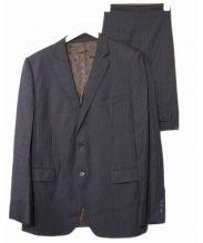DOLCE & GABBANA(ドルチェ&ガッバーナ)の古着「2Bピンストライプスーツ」|ブラック
