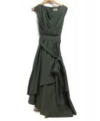 Diagram(ダイアグラム)の古着「ラップシャツドレス」 オリーブ